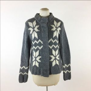 Sundance Gray Lambswool Thick Knit Cardigan